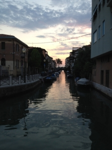 canal at sunset