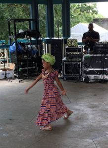 young black girl, dancing