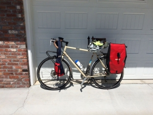 Bike in driveway